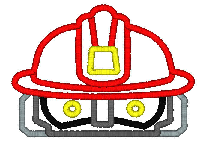 5x7 RED RESCUE BOT FIREMAN HEAD FOR HOODED TOWEL