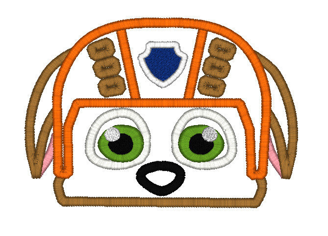 5x7 ZUMA PAW PATROL DOG HEAD FOR HOODED TOWEL