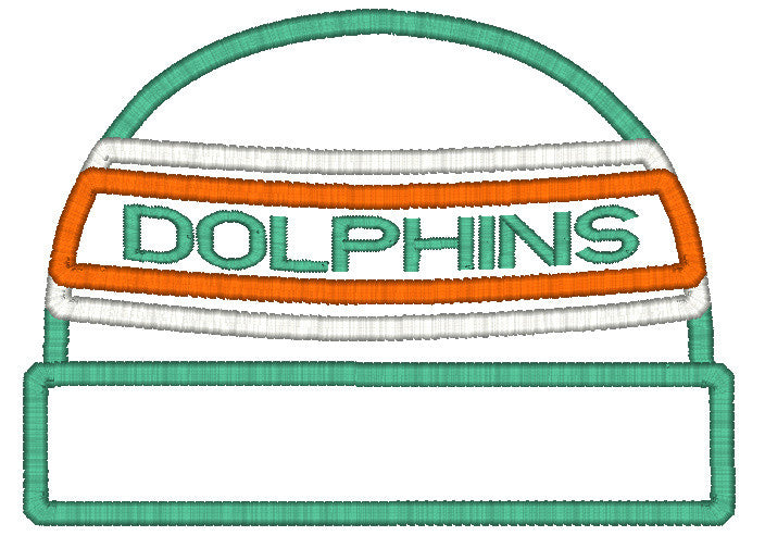 5x7 DOLPHINS BEANIE FOR HOODED TOWEL