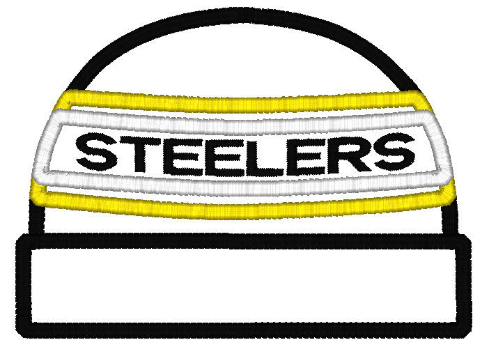 5x7 STEELERS BEANIE FOR HOODED TOWEL