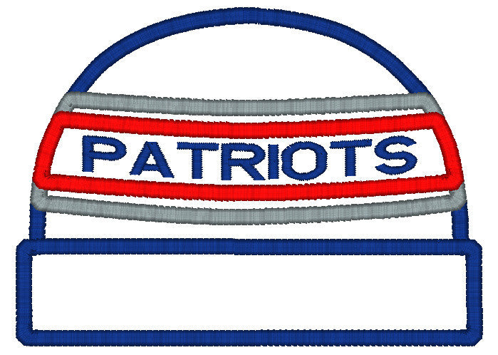 5x7 PATRIOTS BEANIE FOR HOODED TOWEL