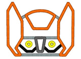 5x7 ORANGE RESCUE BOT HEAD FOR HOODED TOWEL