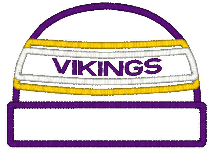 5x7 VIKINGS BEANIE FOR HOODED TOWEL