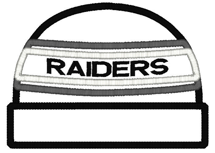 5x7 RAIDERS BEANIE FOR HOODED TOWEL
