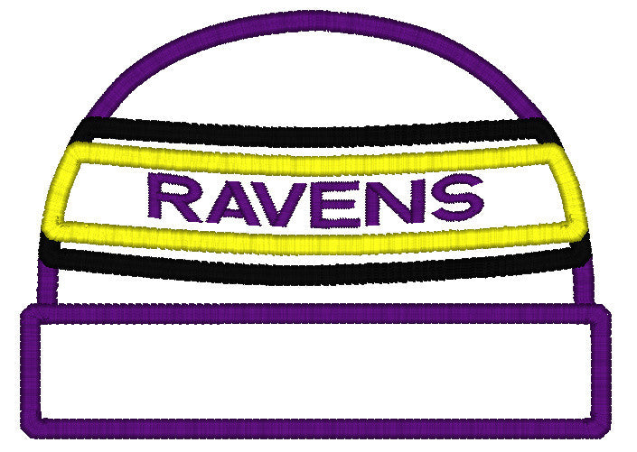 5x7 RAVENS BEANIE FOR HOODED TOWEL