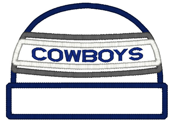 5x7 COWBOYS BEANIE FOR HOODED TOWEL