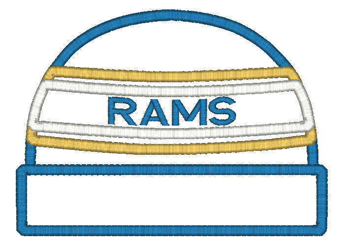 5x7 RAMS BEANIE FOR HOODED TOWEL