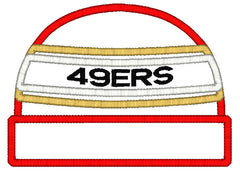 5x7 49ERS BEANIE FOR HOODED TOWEL