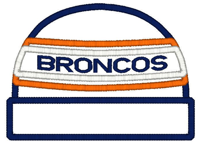 5x7 BRONCOS BEANIE FOR HOODED TOWEL
