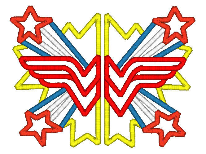 5x7 SPLIT WONDER WOMAN LOGO