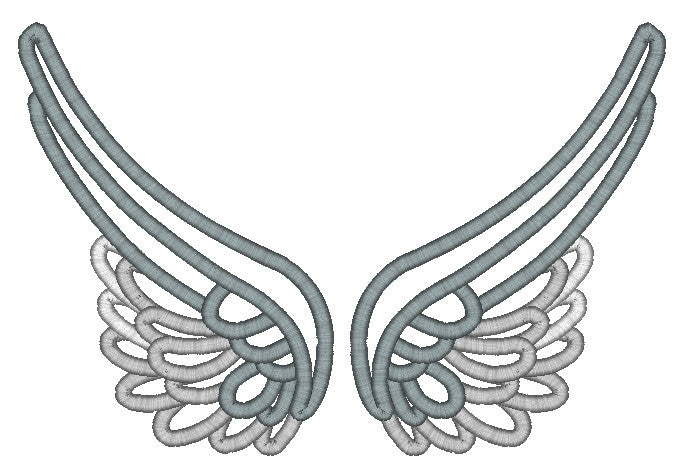 5x7 SPLIT ANGEL WINGS