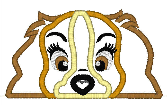 5x7 LADY COCKER SPANIEL DOG HEAD FOR HOODED TOWEL