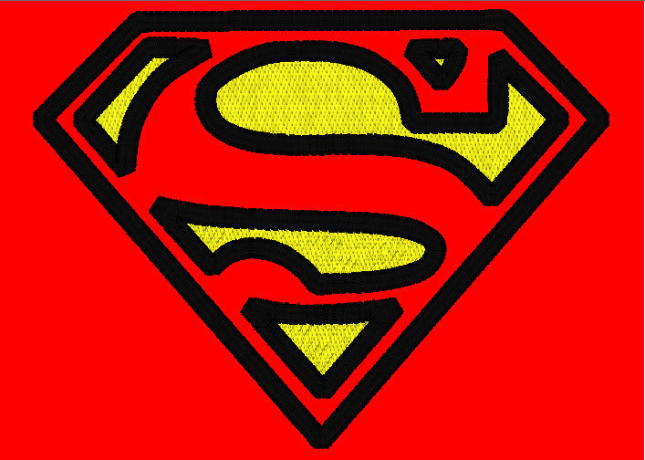 5x7 SUPERMAN CHEST LOGO