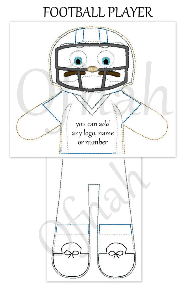 FOOTBALL PLAYER DOLL PATTERN
