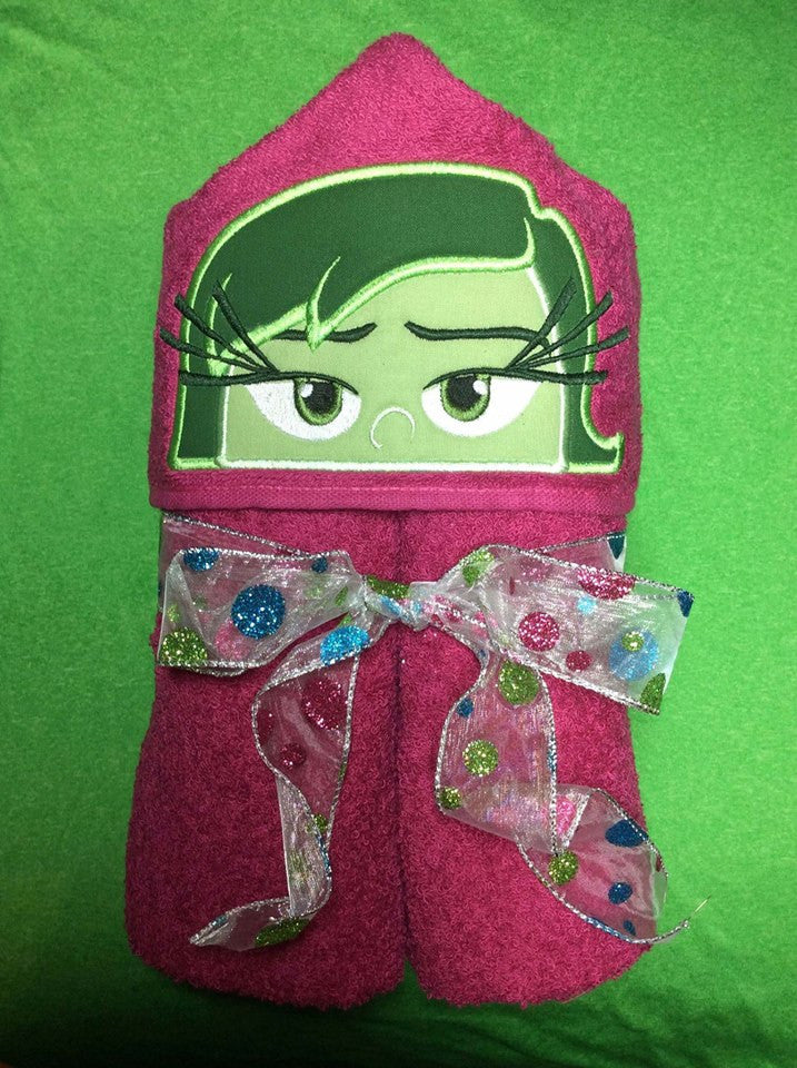 5x7 DISGUST INSIDE OUT HEAD FOR HOODED TOWEL