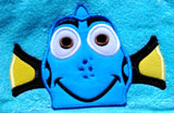 5x7 DORY BLUE FISH HEAD FOR HOODED TOWEL