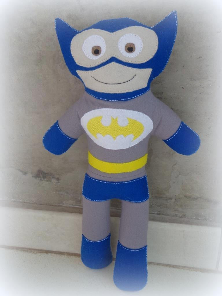 OLD SCHOOL BLUE BATMAN DOLL PATTERN