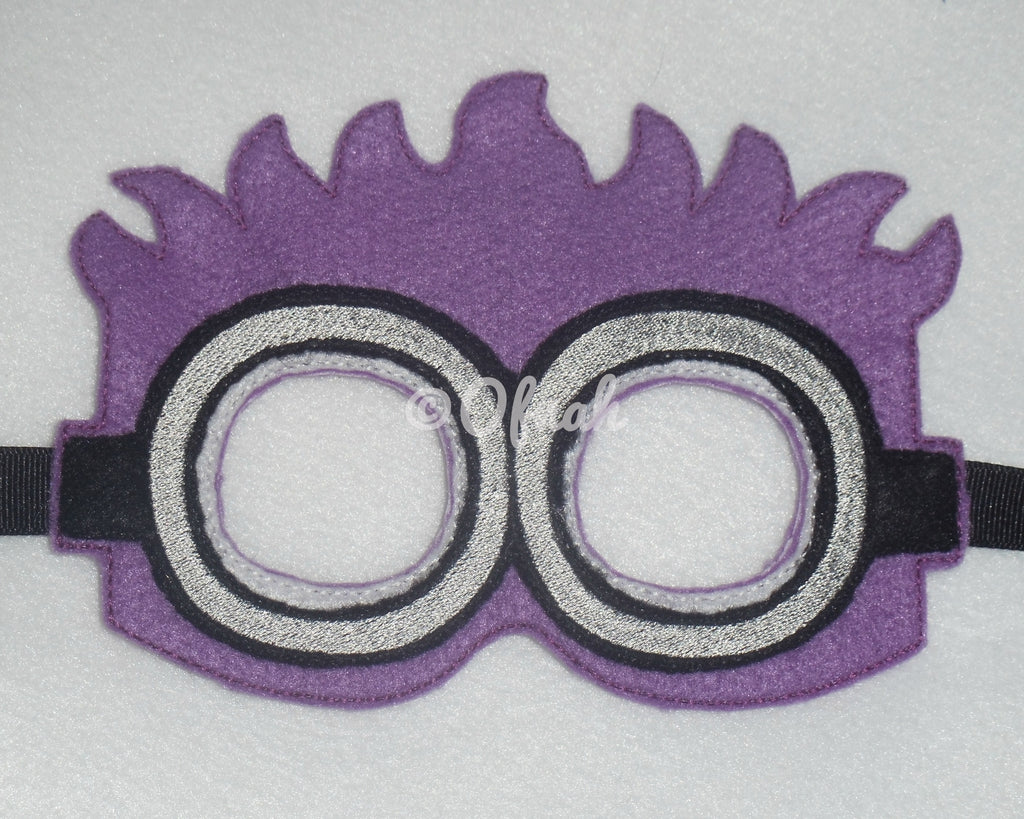 5x7 PURPLE EVIL MINION MASK PATTERN