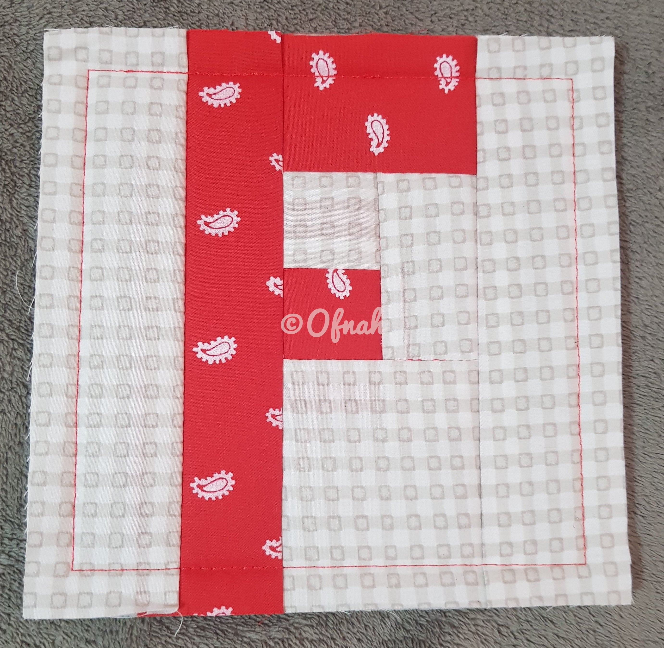 ITH LETTER F QUILT BLOCK