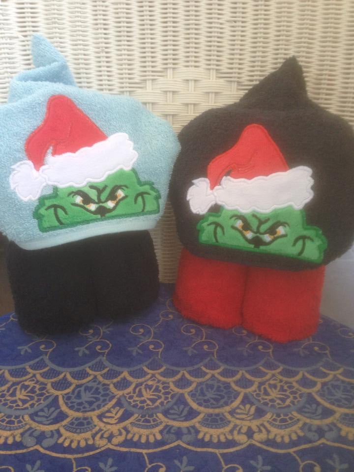 5x7 GRINCH HEAD FOR HOODED TOWEL