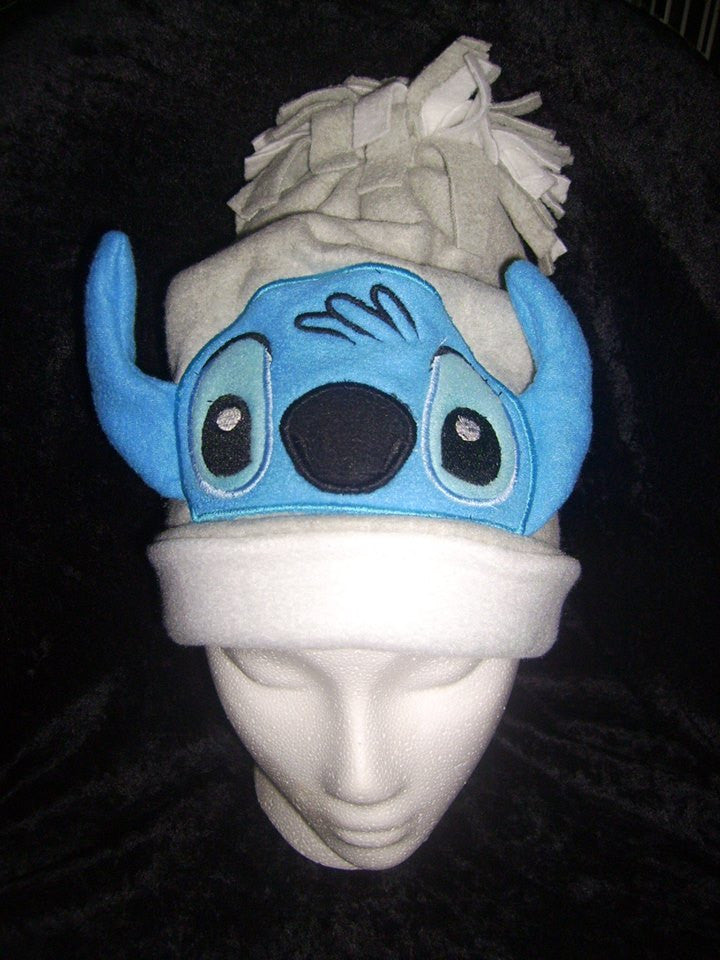5x7 STITCH BLUE ALIEN HEAD FOR HOODED TOWEL