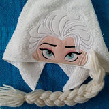 5x7 ICE QUEEN ELSA FOR HOODED TOWEL