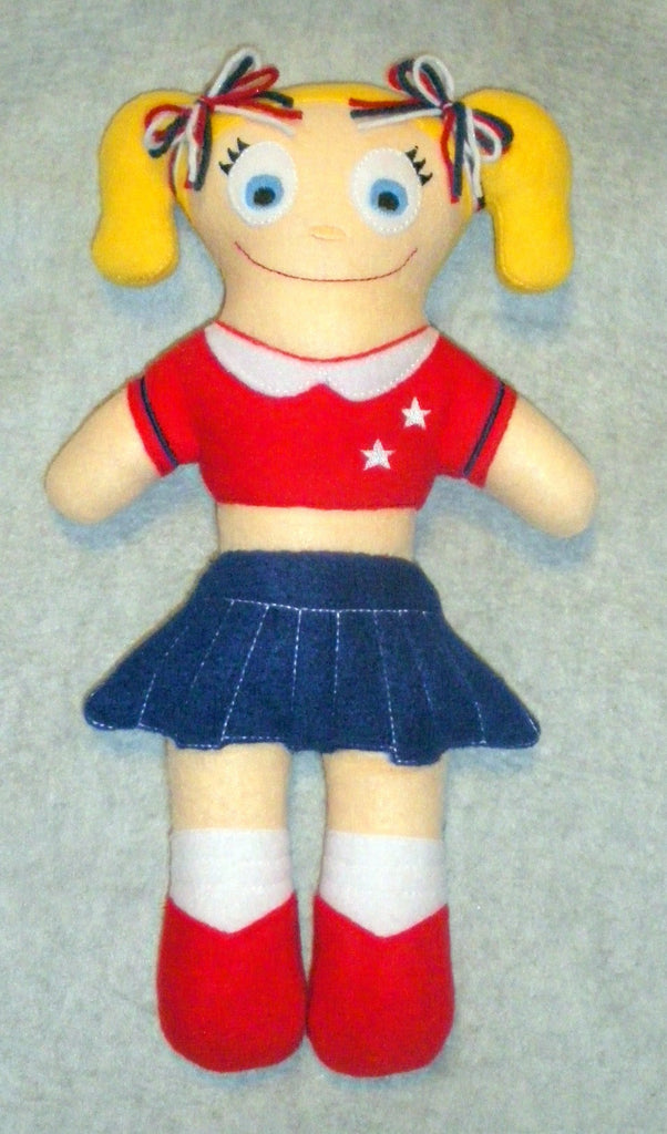 CHEERLEADER DOLL PATTERN