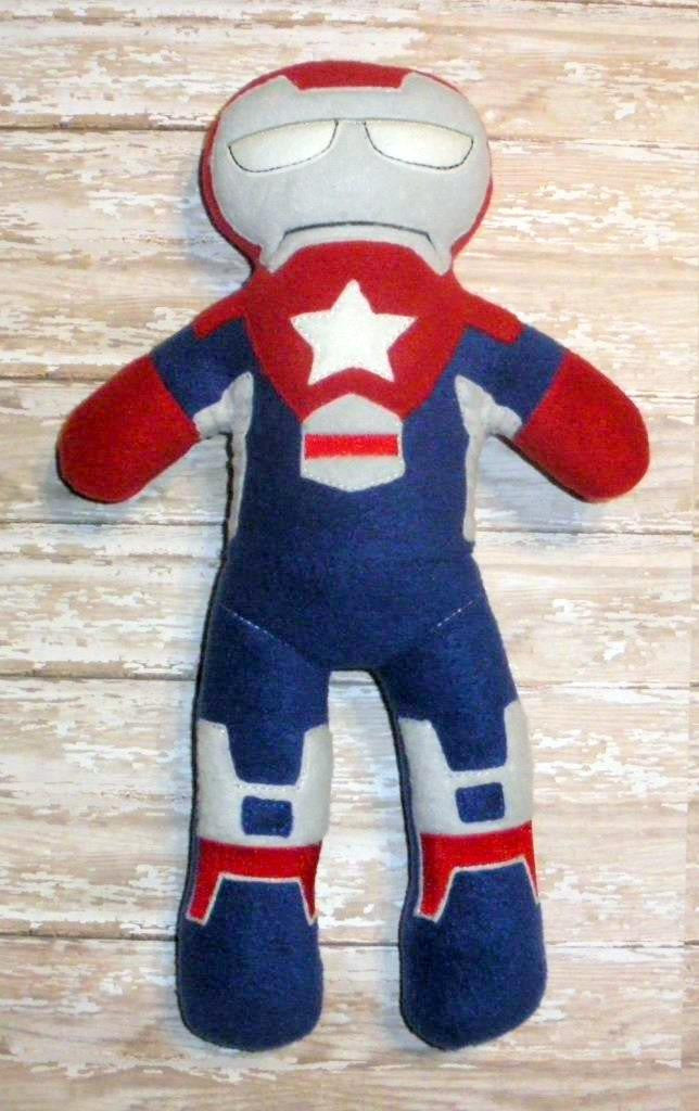 PATRIOTIC IRONMAN DOLL PATTERN