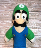 GREEN ITALIAN PLUMBER DOLL PATTERN