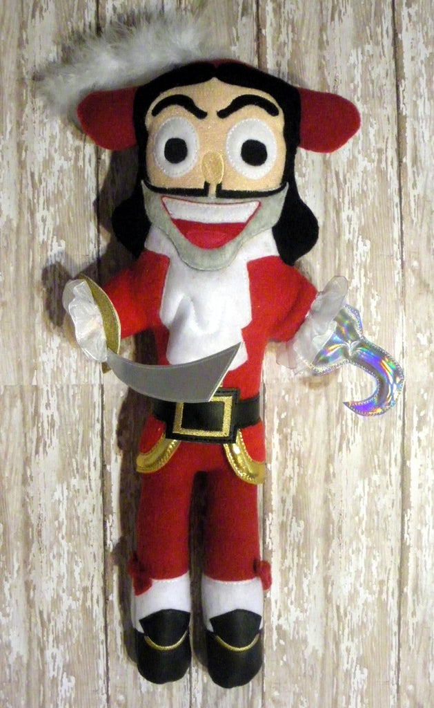 CAPTAIN HOOK DOLL PATTERN