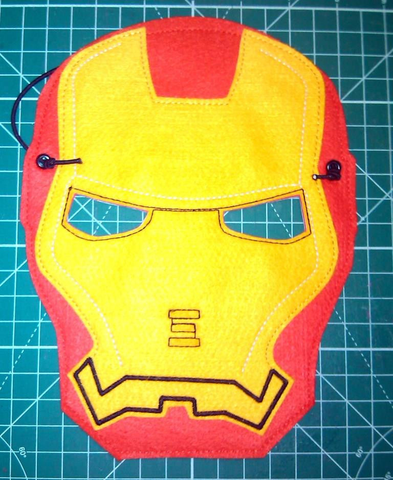 8X10 IRONMAN MASK PATTERN