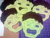 8X10 HULK MASK  PATTERN