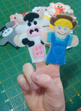 FARM FINGER PUPPETS SET PATTERNS