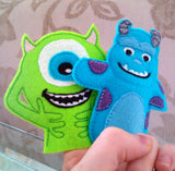 MIKE & SULLY FINGER PUPPET PATTERNS (SET)