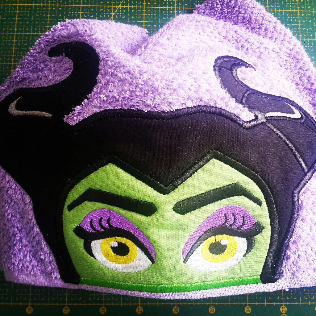 6X10 MALEFICENT HEAD FOR HOODED TOWEL