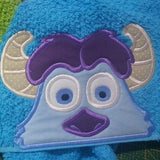 5x7 SULLEY MONSTER INC HEAD FOR HOODED TOWEL