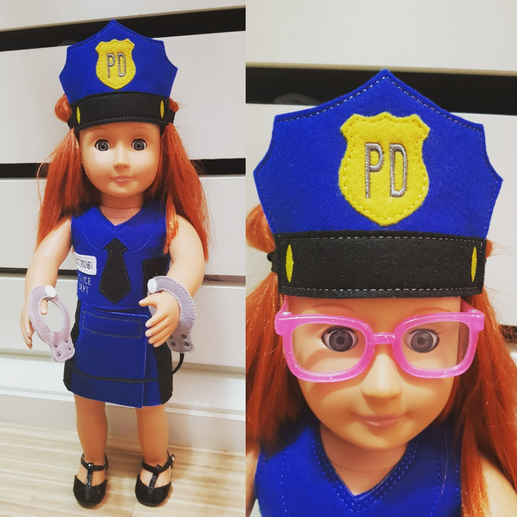 ITH POLICE OFFICER COSTUME FOR 18 INCHES DOLL