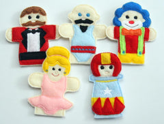 CIRCUS FINGER PUPPETS SET PATTERNS