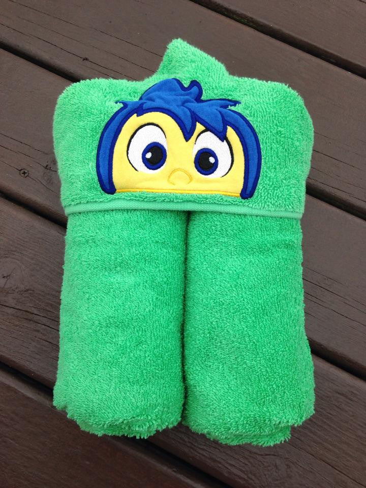 5x7 JOY INSIDE OUT HEAD FOR HOODED TOWEL