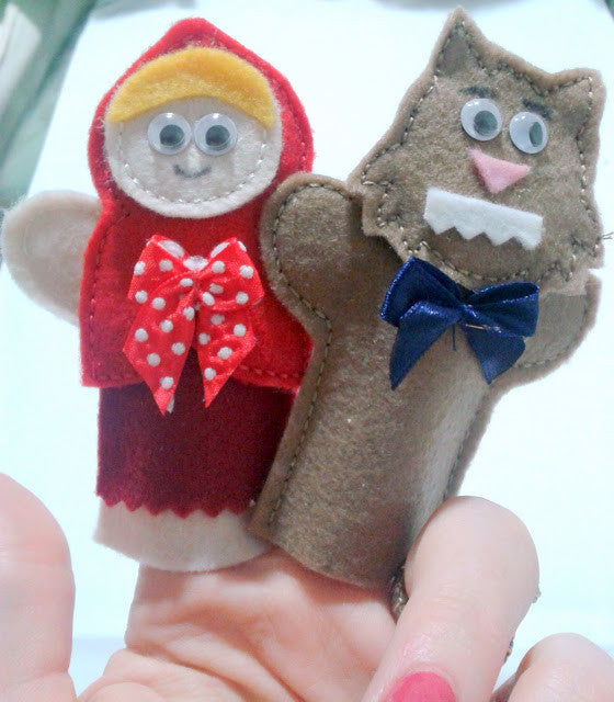 LIL RED RIDING HOOD & BAD WOLF FINGER PUPPETS PATTERNS