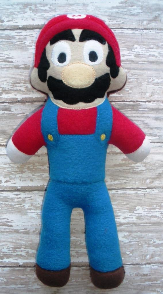 RED ITALIAN PLUMBER DOLL PATTERN