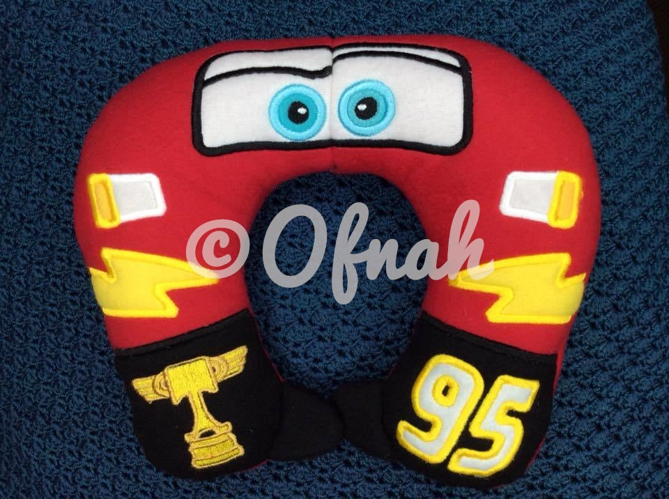 6X10 & 8X12 LIGHTNING RACE CAR NECK PILLOW