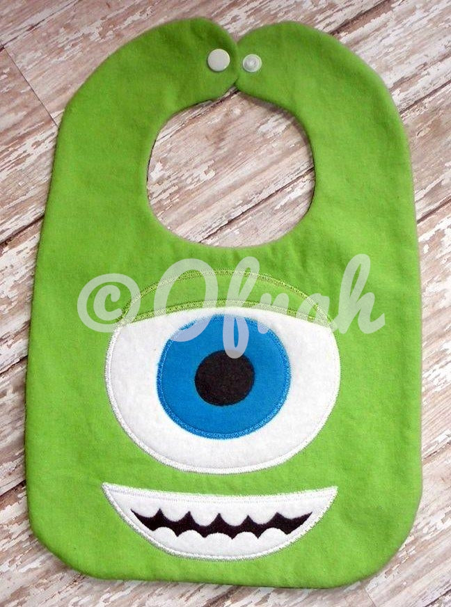 GREEN MONSTER INC INSPIRED BIB