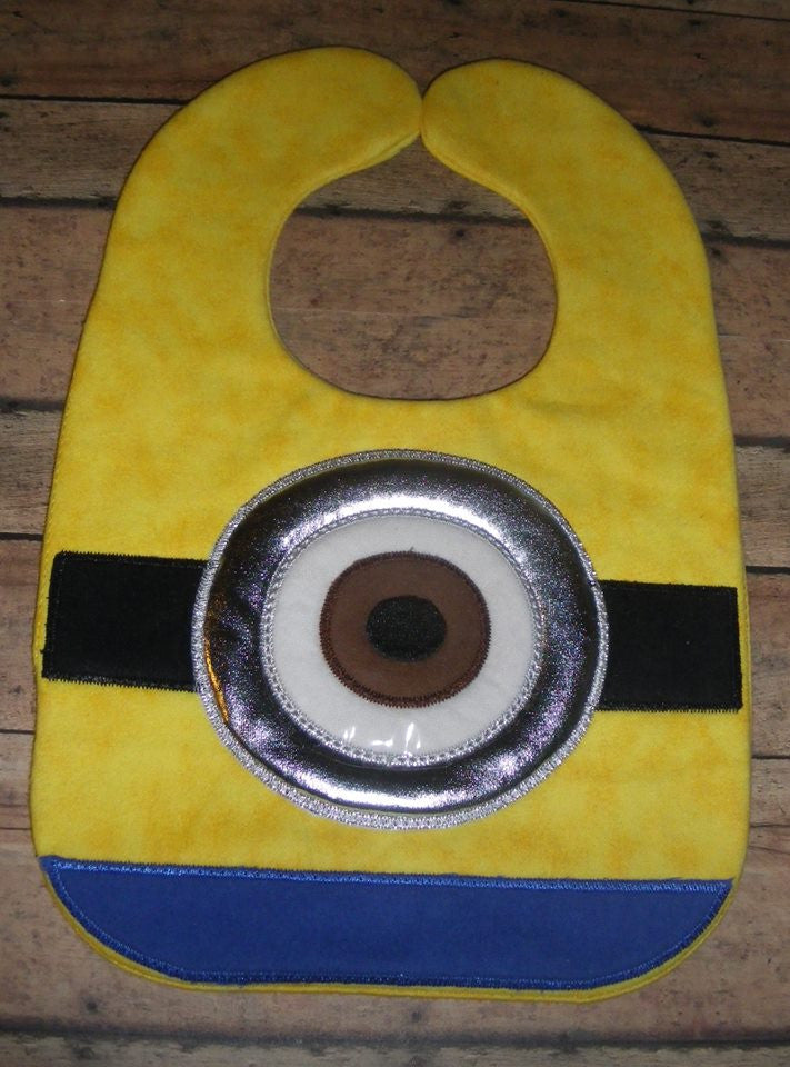 YELLOW MINION BIB