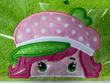 5X7 STRAWBERRY SHORTCAKE HEAD FOR HOODED TOWEL