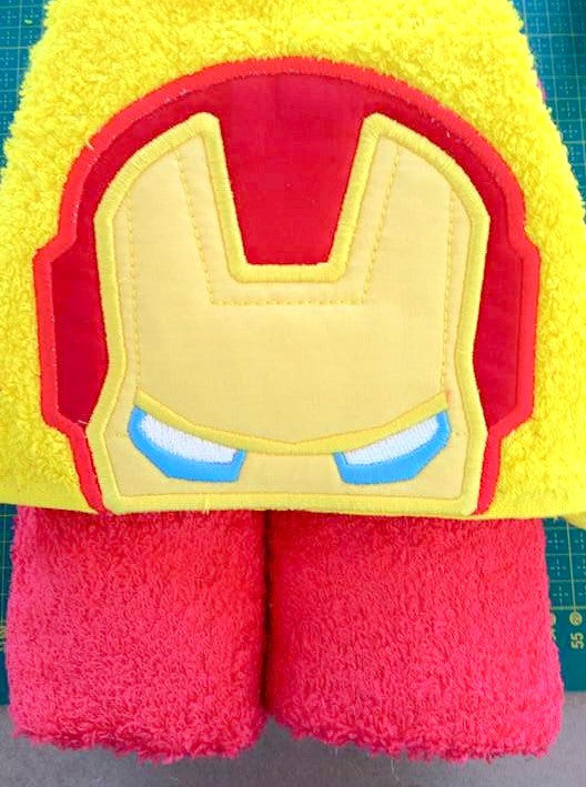 5x7 IRONMAN HEAD FOR HOODED TOWEL