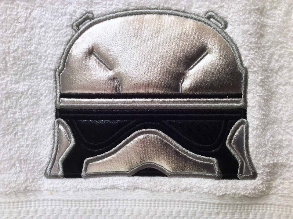 5X7 NEW STORMTROOPER EPISODE VII HEAD FOR HOODED TOWEL