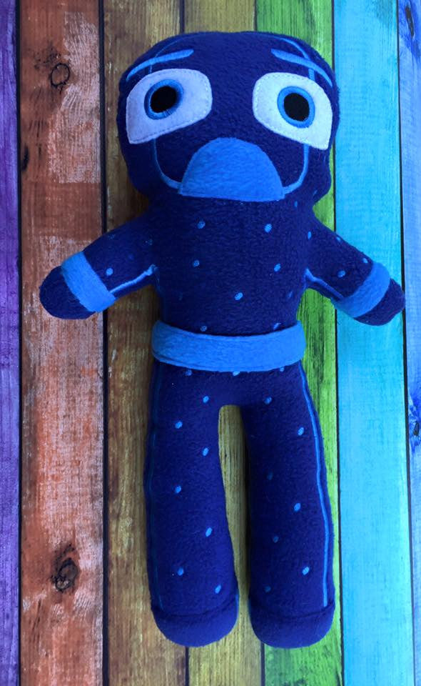 NIGHT NINJA BEDTIME PAJAMA VILLAIN DOLL PATTERN