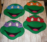8X10 NINJA TURTLE FULL MASK PATTERN