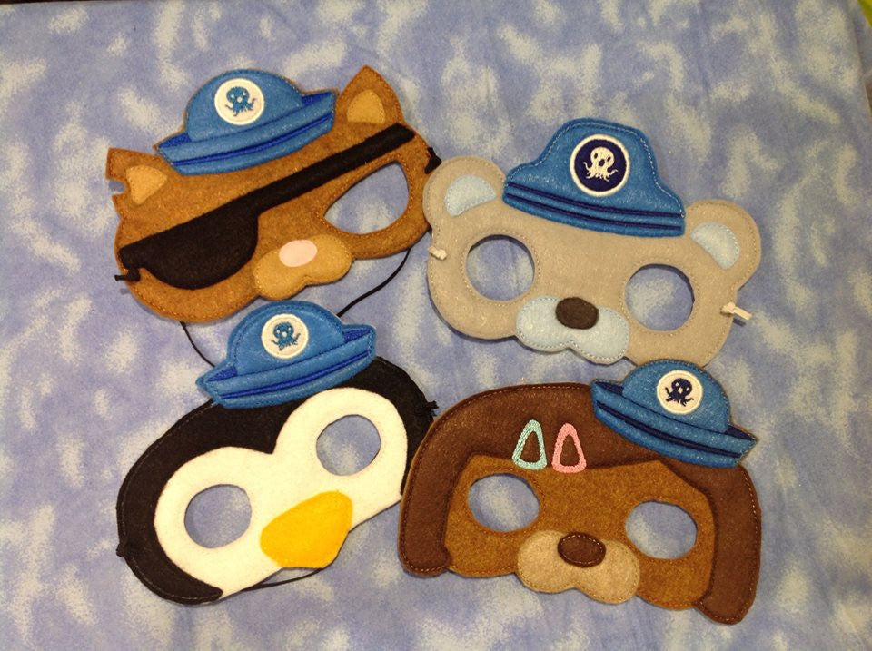 5X7 OCTONAUT SET OF MASK (PATTERNS)
